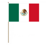 Mexico Country Hand Flag - Large.